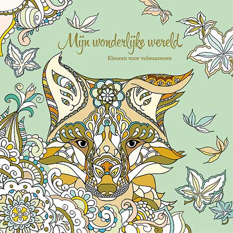 My wondrous World 2  - coloring book by Masja van den Berg